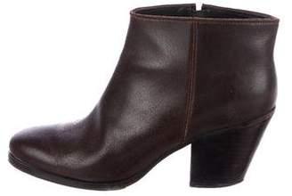 Rachel Comey Round-Toe Leather Booties