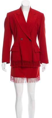 Jean Paul Gaultier Fringe-Trimmed Skirt Suit Set