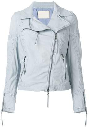 Drome zipped biker jacket