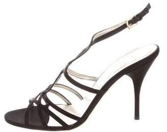 Valentino Satin Crossover Sandals