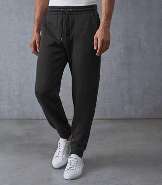 Reiss TOBY JERSEY JOGGERS Charcoal
