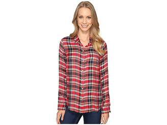 Lucky Brand Back Overlay Shirt Women's Clothing
