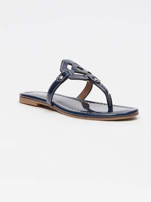 Lucy Patent Leather Sandal in Coco Plum