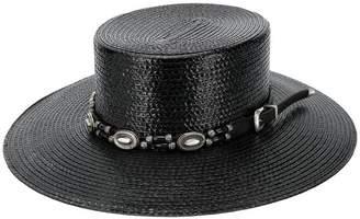 Saint Laurent large boater hat