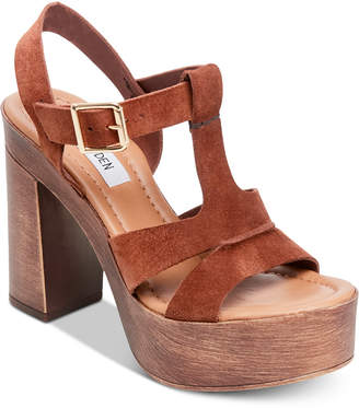 876c20ceccd Steve Madden Lulla Chestnut Suede Leather Platform Sandals ... Steve Madden  Women s Lucille Wooden-Heel Platform Sandals