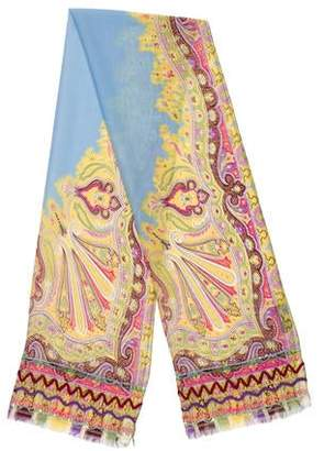 Etro Silk Embellished Scarf