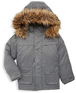 Appaman Little Boy's & Boy's Denali Faux-Fur Trim Down Coat