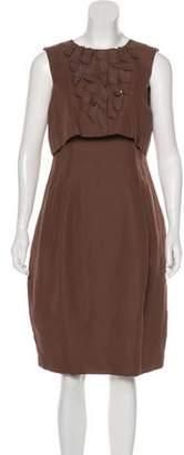 NUOVO Borgo Linen-Blend Dress