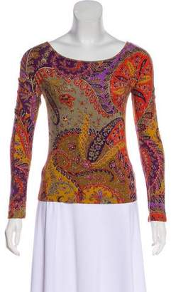 Etro Printed Long Sleeve Top
