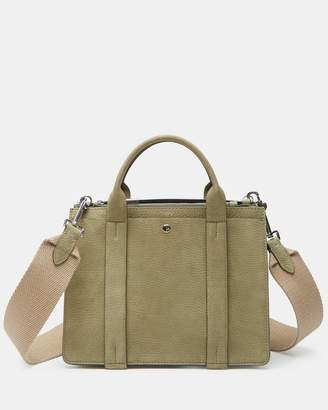 Theory Mini West Bag With Webbing Strap in Nubuck Leather