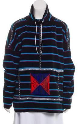 Opening Ceremony Velvet Striped Sweatshirt w/ Tags