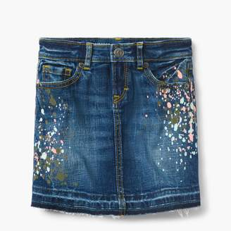 Splatter Denim Skirt