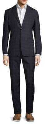 Etro Plaid Wool Suit
