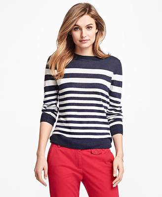 Striped Linen Sweater $78 thestylecure.com