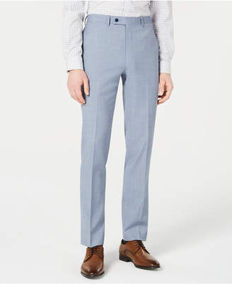 Calvin Klein Men X-Fit Slim-Fit Light Blue Sharkskin Suit Pants