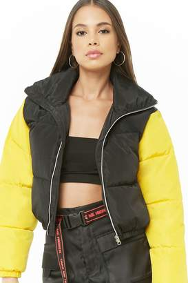 Forever 21 Colorblock Puffer Jacket