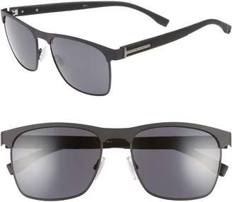 BOSS 57mm Rectangle Sunglasses