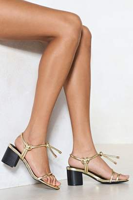 Nasty Gal On the Glow Strappy Sandal