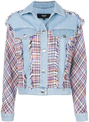 Versus tweed panels denim jacket