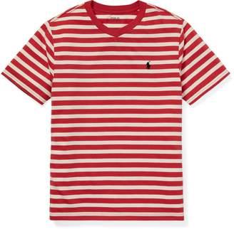 Ralph Lauren Striped Jersey V-Neck T-Shirt