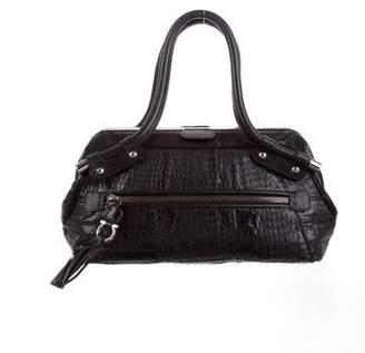 Salvatore Ferragamo Crocodile & Lizard Handle Bag