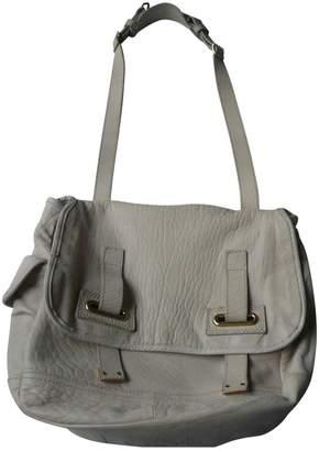 Saint Laurent Messenger Ecru Leather Handbag