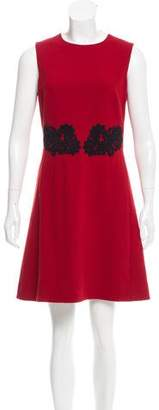 Dolce & Gabbana Lace-Accented Wool Dress