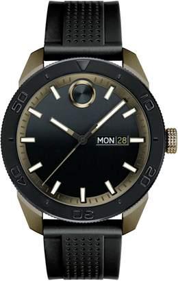 Movado Bold Analog BOLD Sport Black IP Silicone Strap Watch