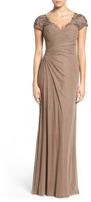 Women's La Femme Fashions Embellished Jersey A-Line Gown $450 thestylecure.com