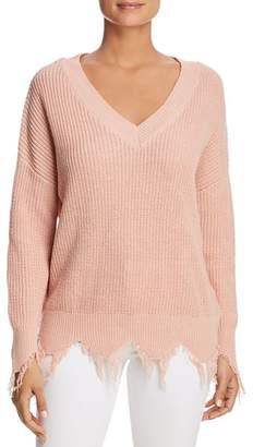 Vero Moda Susan Frayed Trim Sweater