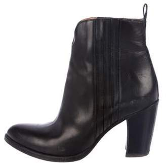 Sartore Leather Ankle Booties Black Leather Ankle Booties