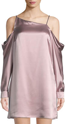 Parker Amelia Cold-Shoulder Silk Dress