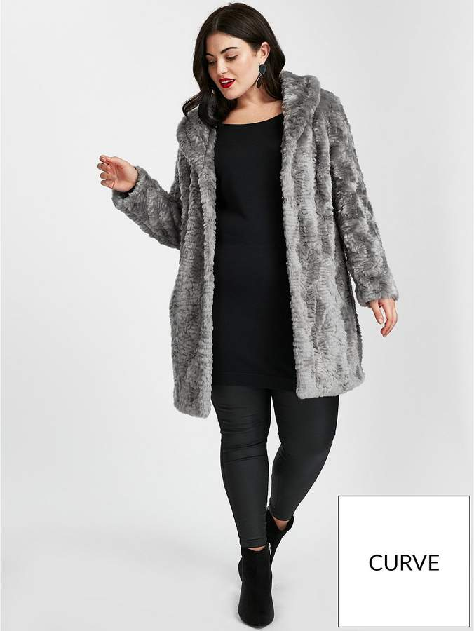 Faux Fur Jacket - Grey