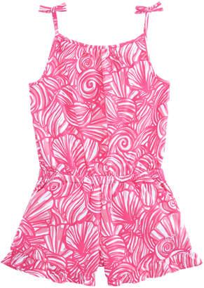 Vineyard Vines Girls Nautilus Shell Print Knit Romper
