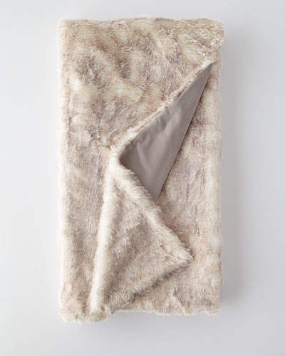 Eastern Accents Damien Faux-Fur Throw