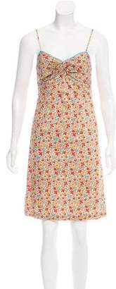 Milly Floral Knee-Length Dress
