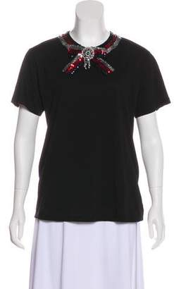 Gucci Embellished Short Sleeve T-Shirt