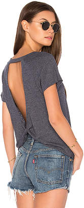 Nation LTD Logan Twist Back Tee in Blue $66 thestylecure.com