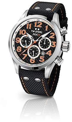 TW Steel Unisex-Adult Chronograph Quartz Watch with Textile Strap TW966