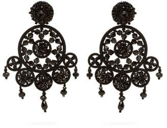 Oscar de la Renta Dreamcatcher Beaded Drop Earrings - Womens - Black