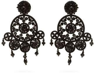 Oscar De La Renta - Dreamcatcher Beaded Drop Earrings - Womens - Black