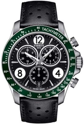 Tissot V8 Chronographic Leather Strap Watch, 43mm