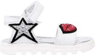 Leather Sandals With Patches