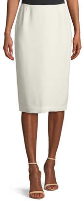 Lafayette 148 New York Finesse Crepe Slim Skirt