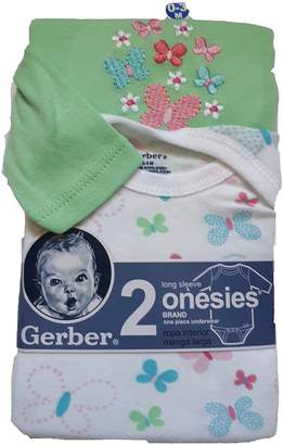 Gerber 2 Onesies long sleeve 0-3 Month