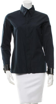 Jean Paul Gaultier Long Sleeve Zip-Up Top $145 thestylecure.com