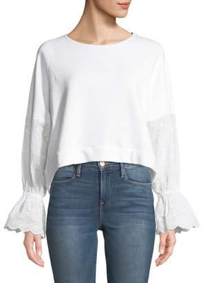 Generation Love Penelope Eyelet-Sleeve Pullover Top