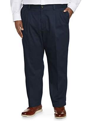 Amazon Essentials Men's Big & Tall Relaxed-fit Wrinkle-Resistant Pleated Chino Pant fit by DXL