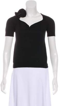 Prada Knit Short Sleeve Top