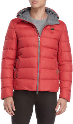 Blauer Red Hooded Down Puffer Jacket